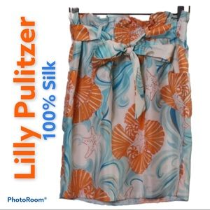 Lilly Pulitzer Do The Wave Silk Skirt Size Small